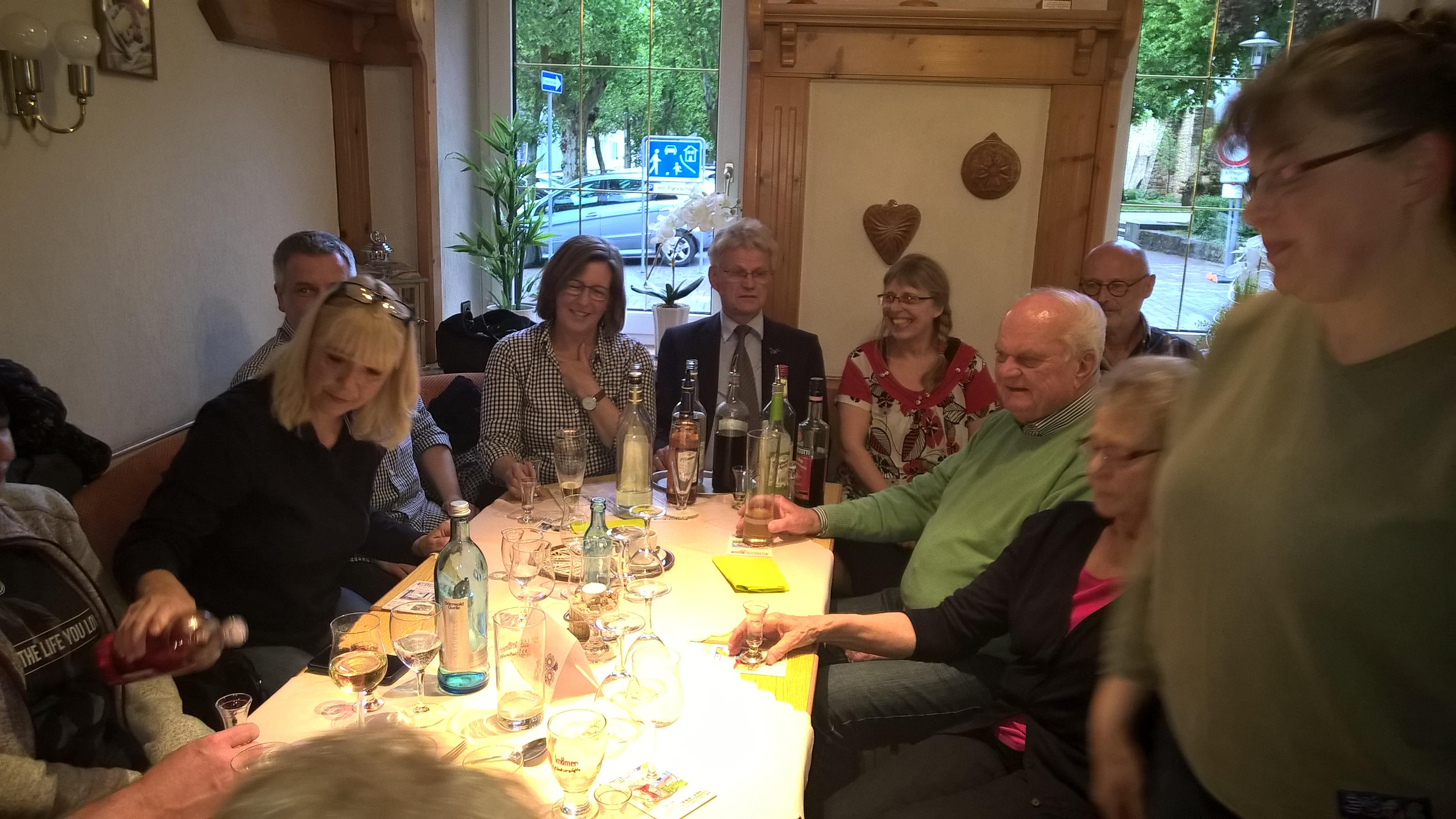 Abendessen in Heppenheim