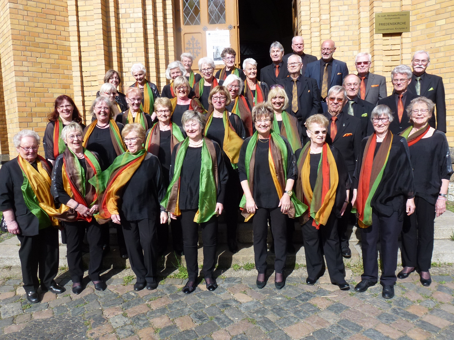 Nach unserem Konzert in der Friedenskirche